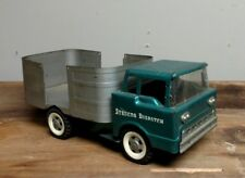 VTG 60s Green Blue Teal Structo Dispatch Truck Pressed Steel Nice Condition
