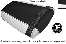 WHITE AND BLACK VINYL CUSTOM FITS HONDA CBR 600 RR 07-12 REAR SEAT COVER ONLY
