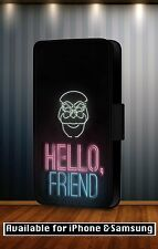 Hello Friend Fsociety Mr Robot Quotes Series Leather Flip Phone Case Cover Y64
