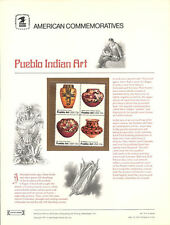 #75 13c Pueblo Art #1706-09 USPS Commemorative Stamp Panel