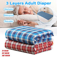 Washable Waterproof Incontinence Bed Pad Elderly Kids Mattress Protector Pad Mat