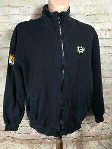 NFL Players Green Bay Packers Embroidered Brett Favre Men's Vintage NFL Zip LG