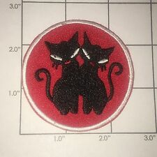 Siamese Cats Patch  - Red & Black