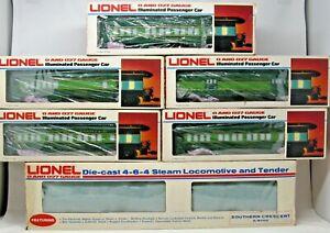 LIONEL #6-8702 SOUTHERN CRESCENT 4-6-4 Hudson Steam Locomotive + FIVE Car Set C8