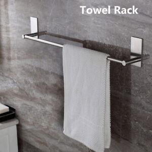 Self-Stick On Towel Rack with Self-Adhesive Stainless Steel Bathroom Towel  Bar`