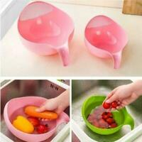 Rice Vegetable Washing Strainer With Handle Kitchen Durable Gadgets