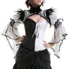 RQBL Gothic Goth Burlesque Rock Vintage Shrug Shoulder Bolero Jacket