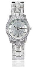 Esprit Ladies Crystal Watch Avec Rond Cadran Argent Avec Bracelet Bracelet