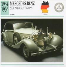 1934-1936 MERCEDES BENZ 500K Classic Car Photograph / Information Maxi Card