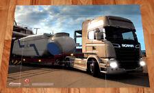 Euro Truck Simulator 2 Titanium-Edition Rare Poster / Map 60x42cm