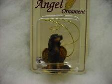Gordon Setter Dog Angel Ornament Hand Painted Resin Figurine Christmas puppy New