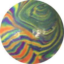 """Handmade Clay Art Marble,   15/16"""".  2020. MINT* By C. Britt"""