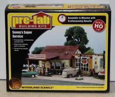 Woodland Scenics Pf5183 Ho Scale Sonny's Super Service PreFab Building Kit Lnib