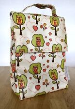 Sugar Booger by Ore Lunch Sack Bag Box Owls Insulated Laminated Canvas