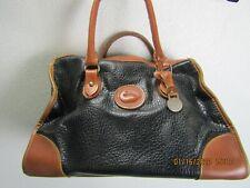 vtg Dooney & Bourke handbag/shoulder/doctor/satchel bag black with brown trim