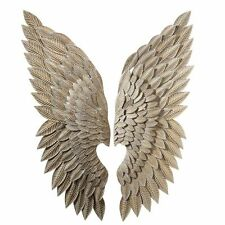 Angel Wings Iron Wall Sculpture Decor,Shabby Chic French Country,15'' x 44''H.
