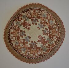 "Miniature Dollhouse 9"" Round Area Rug Carpet Made in Belgium by Garland NEW"
