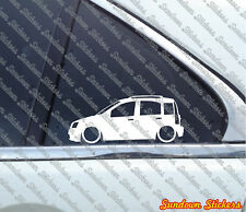 2x Lowered car outline stickers - for Fiat Panda 2003-2013 (169) low 4x4