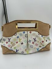 Authentic Louis Vuitton White Multi-color Judy MM