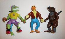 Splinter Duck Mondo Gecko Teenage Mutant Ninja Turtles vtg Action Figures Lot
