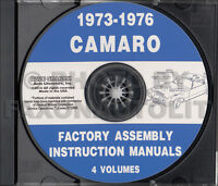 Camaro Assembly Manual CD 1973 1974 1975 1976 Chevy Factory LT RS