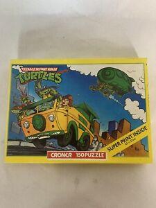 1989 Teenage Mutant Ninja Turtles 150 Piece Puzzle Complete Plus a Poster TMNT