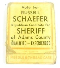 Vote for Russell Schaefer Republican for Sheriff of Adams Cty Needle Thread Case