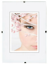 Bilderrahmen Rahmenlos Acrylglas Bildhalter CLIP Rahmen Kunststoffglas