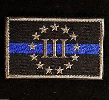 THREEPER 3%ER 3 PERCENTER US POLICE THIN BLUE LINE SWAT ARMY VELCRO® BRAND PATCH