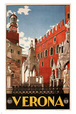 Verona VINTAGE TRAVEL POSTER Italy Poster1928 24X36 stunning HOT collectors