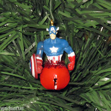 Mini CAPTAIN AMERICA Superhero Bell - Custom Christmas Tree Ornament Decoration
