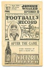 1939 St Kilda v Collingwood Preliminary Final Football Record