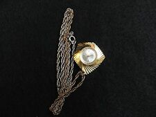 Pretty Swiss Made Lucerno Wind Up Necklace Pendant Watch