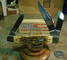 Couteau Case Jumbo Stockman Amber Bone 6375CV pattern Chrome vanadium USA CA204