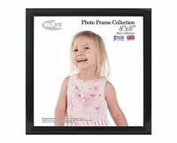Inov8 British Made Traditional Picture/Photo Frame, Square 8x8-inch, Value Black