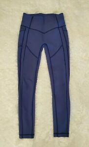 "Lululemon All The Right Places 28"" Leggings Pants GATSBY BLUE  Sz.  8  EUC!!"