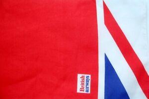 """Original BRITISH AIRWAYS Stewardess Scarf ~ Union Jack Flag Design 8 x 46"""""""