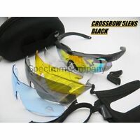 ESS Crossbow Military Tactical Ballistic Shooting Glasses Googles Plus New Sets