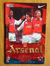 Arsenal v Liverpool 1998/99 programme