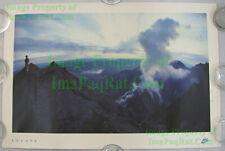 NITF ☆ Vintage NIKE Running Poster ☆ ESCAPE ☆ Mt St Helens Crater ☆ Spirit Lake