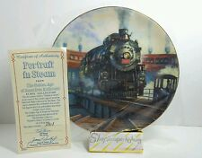 Authentic Portrait in Steam from Golden Age American Railroads Plate Collection