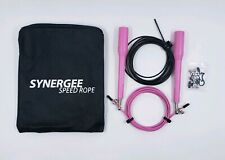 iheart Synergee Speed Jump Rope with 2 Adjustable 10 Ft Cables, Pink
