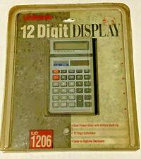 Vintage Unisonic 12 Digit Display Calculator Lc 1206 New Oldstock
