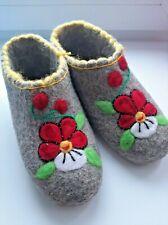 Russian Handmade Valenki Wool Slippers Felt Shoes  *EU 38.5 US 8