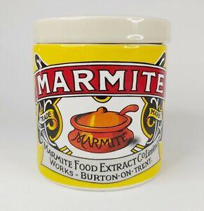 Marmite Collectable Retro Ceramic Storage Jar - Yellow & White Classic Kitchen