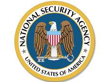 4x4 inch Round NSA Seal Sticker - National Security Agency spy logo intelligence