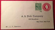 A.B. Dick Company – unused Return Envelope – U.S. #U430 & Prexie - New York, NY