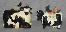 Cow Statue Chicken Farm  Figurine Farmyard Animal Decorative Ornament (set 2)