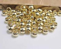 50 x beads acrylic plastic gold 10mm large big hole ladies girls jewellery craft