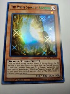 (GREEN) The White Stone of Ancients LDS2-EN013 YUGIOH Ultra Rare holo foil card